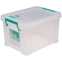 StoreStack Storage Box, Clear, 1.7 Litre