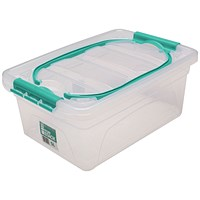 StoreStack Storage Carry Box, Clear, 5 Litre