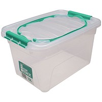 StoreStack Storage Box, Clear, 13 Litre