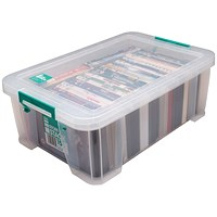 StoreStack Storage Box, Clear, 15 Litre