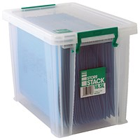 StoreStack Storage Box, Clear, 18.5 Litre