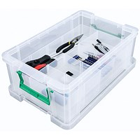 StoreStack Storage Box, Clear, 24 Litre