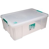 StoreStack Storage Box, Clear, 51 Litre