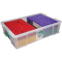 StoreStack Storage Box, Clear, 37 Litre