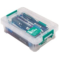 StoreStack Storage Box, Clear, 0.8 Litre