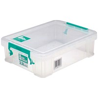 StoreStack Storage Box, Clear, 2.3 Litre