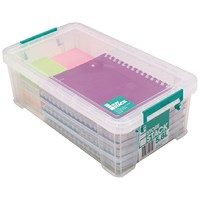 StoreStack Storage Box, Clear, 5.8 Litre