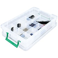StoreStack Storage Box, Clear, 10 Litre