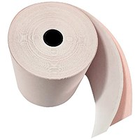 Prestige Paper Roll, 2-Ply, 76x76x12.7mm, White/Pink, Pack of 20