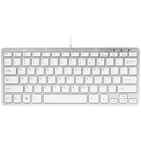 R-GO Compact Ergonomic Keyboard Wired White