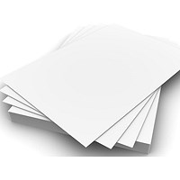 Coloured Office Card - White, A4, 205gsm, Pack of 20 Sheets