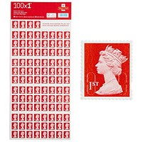 First Class Postage Stamps (Pack of 100)