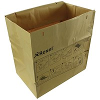 Rexel Recyclable Paper Shredder Bags Brown, Capacity 115 Litres, Pack of 50