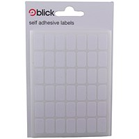Blick White Labels in Bags 9x16mm (Pack of 20) RS002550