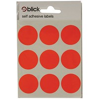 Blick Coloured Labels in Bags Round 29mm Dia 36 Per Bag Red (Pack of 720) RS005155