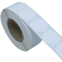 Blick Labels in Dispensers Round 19mm White (Pack of 1400) RS005551