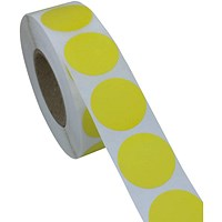 Blick Labels in Dispensers Round 19mm Yellow (Pack of 1280) RS012252
