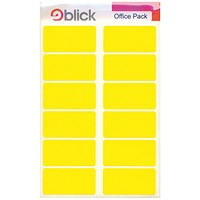 Blick Labels in Office Packs 25mmx50mm Yellow (Pack of 320) RS020158