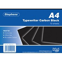 Stephens Black Typewriter Carbon A4 Paper (Pack of 100)