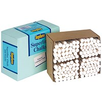 Stephens Superline Chalk, White, Pack of 144