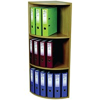 Rotadex Corner Unit 3 Tier Light Oak