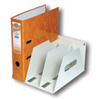 Rotadex 3-Section Lever Arch Filing Rack A4 Smoke White