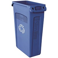 Rubbermaid Slim Jim Venting Channel Container 87 Litre Blue