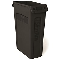 Rubbermaid Slim Jim Venting Channel Container 87 Litre Black