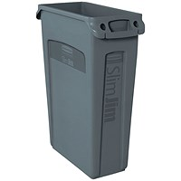 Rubbermaid Slim Jim Venting Channel Container 87 Litre Grey