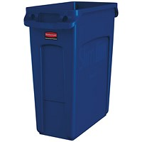 Rubbermaid Slim Jim Container Recycling 60 Litre Blue