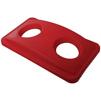 Rubbermaid Slim Jim Lid for Bottle Recycling System - Red