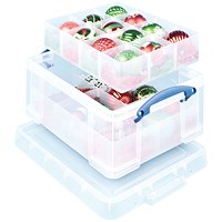 Really Useful Storage Box, 21 Litre, Clear