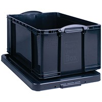 Really Useful Storage Box, 64 Litre, Black