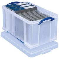 Really Useful Storage Box, 48 Litre, Clear