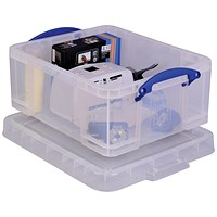 Really Useful Storage Box, 18 Litre, Clear