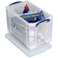 Really Useful Storage Box, 24 Litre, Clear