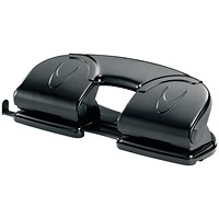 Rexel V412 4 Hole Punch Black (12 Sheet Capacity)