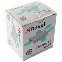 Rexel 66 Staples (11mm) - Pack of 5000