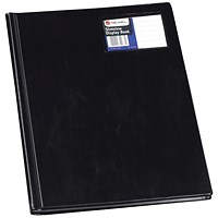 Rexel Nyrex Slimview A4 Display Book 12 Pocket Black