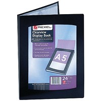 Rexel Clearview Display Book 24 Pocket A5 Black