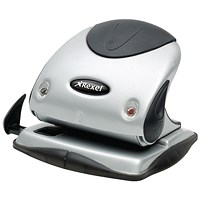 Rexel P225 2-Hole Punch with Nameplate, Silver and Black, Punch capacity: 25 Sheets