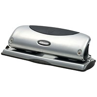Rexel Precision P425 4 Hole Punch Silver/Black