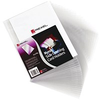 Rexel Nyrex Card Holder Open Top 95x64mm Clear(Pack of 25)PGC321