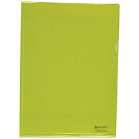 Rexel Nyrex Cut Flush Folders, A4, Yellow, Pack of 25