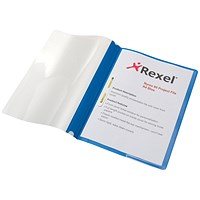 Rexel A4 Nyrex Project Flat Files, Blue, Pack of 5