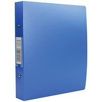 Rexel Budget Plastic Ring Binder, A5, 2 O-Ring, 25mm Capacity, Blue, Pack of 10