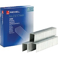 Rexel No. 23 (17mm) Staples - Box 1000