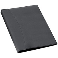 Rexel Soft Touch Display Book with Smooth Cover, 24 Pockets, Black