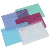 Rexel A4 Popper Wallet Folders, Assorted, Pack of 6