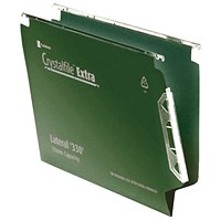 Rexel Crystalfile Extra 15mm File 150 Sheet Green (Pack of 25)